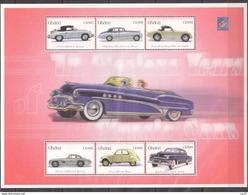 GHANA 2001 - Voitures Classiques Des Années 1960, Porsche, Mercedes, Aston Martin, Citroën 2 Cv - BF 6 Val Neufs // Mnh - Ghana (1957-...)