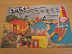 ACCESSOIRES BARBIE  Pour  Collectionneurs ... PUBLICITE MATTEL Page De Revue Des Années 70 - Barbie
