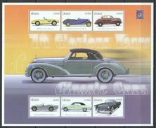 GHANA 2001 - Voitures Classiques Des Années 1960, Morris Minor, Bmw 307, Ford - BF 6 Val Neufs // Mnh - Ghana (1957-...)