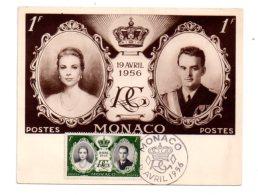 Monaco - Mariage De Grace Kelly Et Prince Rainier - 1956-voir état - Monaco