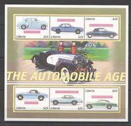 Liberia 2001 - Voitures Classiques Des Années 1960, Citroë, DS Cabriolet, Bmw 3.0, Mercedes - BF 6 Val Neufs // Mnh - Liberia