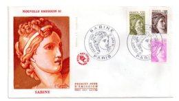 Premier Jour - Sabine - 1981-Paris -nouvelle émission -voir état - FDC