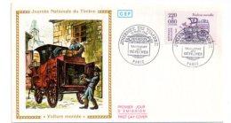 Journée Du Timbre 1988-Paris - Voiture Montée -voir état - FDC