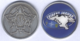 Médaille Du Quartier Général De La Force D'Action Rapide Française - Opération Trident Jaguar 2017 - Armée De Terre