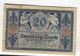 20 MARK4/11/1915  F 3 - [ 2] 1871-1918 : German Empire