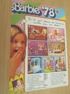BARBIE '78 (plus Sympa Que Barbie '44)  Pour  Collectionneurs ... PUBLICITE MATTEL Page De Revue Des Années 70 - Barbie