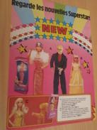 NOUVELLES SUPERSTARS BARBIE Pour  Collectionneurs ... PUBLICITE MATTEL Page De Revue Des Années 70 - Barbie
