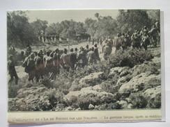 1912 - RHODES -  Réddition De L'armée Turque Reconduite à Pzithos - Coupure De Presse Originale (encart Photo) - Documents Historiques
