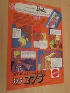 BARBIE AUX CHEVEUX QUI POUSSENT  Pour  Collectionneurs ... PUBLICITE MATTEL Page De Revue Des Années 70 - Barbie