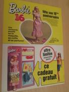 BARBIE 16e ANNIVERSAIRE  Pour  Collectionneurs ... PUBLICITE MATTEL Page De Revue Des Années 70 - Barbie