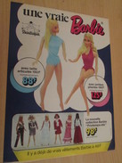 UNE VRAIE BARBIE Pas Comme Klaus !!!  Pour  Collectionneurs ... PUBLICITE MATTEL Page De Revue Des Années 70 - Barbie