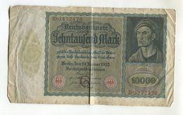 10000 MARK 19/01/1922 F 3 - [ 3] 1918-1933: Weimarrepubliek