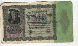 50000 MARK 19/11/1922 F+ 4 - [ 3] 1918-1933 : Weimar Republic