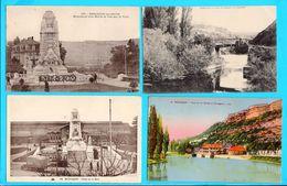 Lot De 12 Cpa  Carte Postale Ancienne - Besancon Quai D Arenes Le Doubs A Tarragonz Rue Pasteur Ect - Besancon