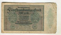 500000  MARK 1/03/1923 F+ 3 - 1918-1933: Weimarer Republik