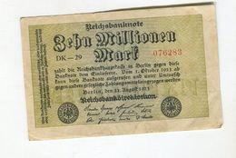 10M0  MARK 22/08/1923 F+ 3 - [ 3] 1918-1933 : Weimar Republic
