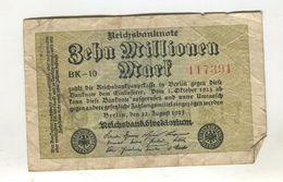 10M0  MARK 22/08/1923 F 3 - [ 3] 1918-1933 : Weimar Republic