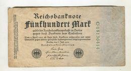 MARK 7/06/1922 F 3 - [ 3] 1918-1933 : Repubblica  Di Weimar