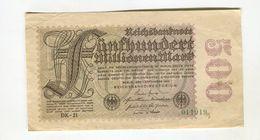500 MO MARK 1/09/1923 F 3 - [ 3] 1918-1933: Weimarrepubliek