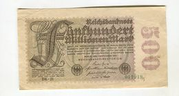 500 MO MARK 1/09/1923 F 3 - [ 3] 1918-1933 : Weimar Republic