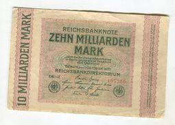 10 MI MARK 1/10/1923 F 3 - [ 3] 1918-1933 : Weimar Republic
