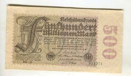 500 MI MARK 1/09/1923 F 3 - [ 3] 1918-1933 : Weimar Republic