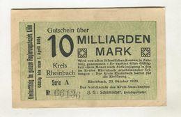 10 MO MARK 23/08/1923 F 3 - 10 Mrd. Mark