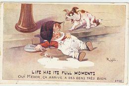 Illus. -- RIGHT  ----  LIFE HAS ITS FULL MOMENTS  --  OUI MEDOR CA ARRIVE A DES GENS TRES BIEN - Right