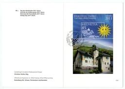 Suisse // Schweiz // Switzerland // 2010-2017 // 2011 Livret De La Poste (fattblatt) No. 634 1er Jour 24.11.2011 - Briefe U. Dokumente