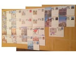 CB-EP, ESPAÑA, 22 TARJETAS ENTERO-POSTALES DIFERENTES, 10 NUEVOS, 12 CON MATASELLOS DE PRIMER DIA, 90% DE DESCUENTO. - Stamped Stationery