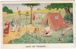 'Leve De Vacantie'  - TENT, MOTOR, KAMPEREN -  (1960) - Holland/Nederland - Voitures De Tourisme