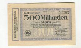 500MI  MARK1/09/1923 F+ 4 - 1918-1933: Weimarer Republik