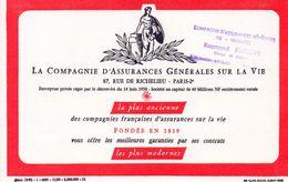 712z   Buvard Compagnie Assurance Vie Tampon Raymond Philippe à Gap (05) - Bank & Insurance