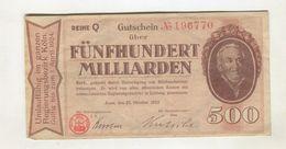 500MI  MARK 25/08/1923 F+ 4 - 1918-1933: Weimarer Republik