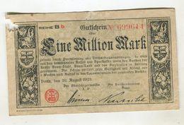 1 MO  MARK 10/08/1923 F+ 4 - [ 3] 1918-1933 : Weimar Republic
