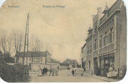 HACCOURT : Centre Du Village - TRES RARE CPA - Coins Arrondis - Oupeye