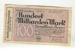 100 MI  MARK 15/08/1923 F+ 4 - 1918-1933: Weimarer Republik