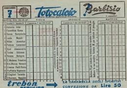 712z   Italie Bulletin Neuf De Jeu Totocalcio Football Calcio Journée N° 7 Du 20 / 10 / 1957 - Lottery Tickets