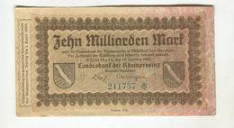 10MI MARK 10/10/1923 F+ 4 - [ 3] 1918-1933 : Repubblica  Di Weimar