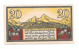 **notgeld Berchtsgraden 20 Pfennig 76.4/2 - [11] Emissions Locales