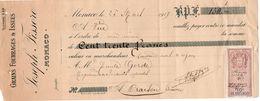 712z   04 Oraison Négociant Agricole Quittance Grains Fourrages J. Fissore De Monaco En 1917 - Bills Of Exchange