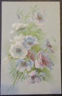 CPA Fantaisie - Fleur Anémone Avec Signification Au Verso - Carte Couleur Non-circulée - Flowers