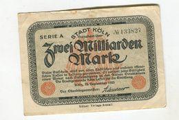 2 MO MARK 12/09/1923 F+ 4 - [ 3] 1918-1933 : Repubblica  Di Weimar