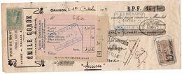 712z   04 Oraison Négociant Agricole Quittance à Oscar Amrhyn à Lucerne Suisse En 1912 - Bills Of Exchange