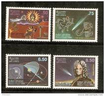Sri Lanka 1986 Hally Comet Edmond Halley Comet God Sun Zodiac Signs Constellation 4v MNH # 2755 - Space