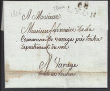 FR - Lettre De Lyon Du 31 Juillet 1806 En Port Dû, Taxe 5 Décimes, Marque Linéaire Pour Varages - B/TB - - 1801-1848: Precursors XIX