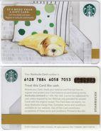 Starbucks - USA - 2016 - CN 6128 7884 Dog - Gift Cards