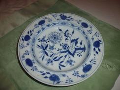 Meissen Saxe-assiette Creuse à La Fleur D'oignon-fin XIX-deux Epées - Meissen (DEU)