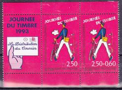 Paire De T.-P Neufs** Journée Du Timbre Les Métiers De La Poste Distribution Du Courrier N° P2793Aa (Yvert)  France 1993 - Nuevos