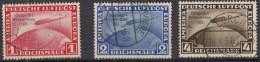 DR 496-498, Gestempelt,  Tief/tiefst Geprüft: SCHLEGEL, Zeppelin-Marken Chicagofahrt 1934 - Gebraucht